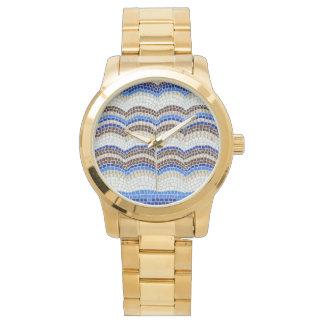 Blue Mosaic Unisex Watch