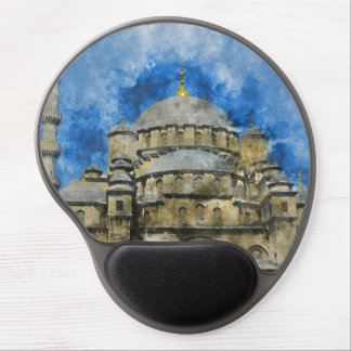 Blue Mosque in Istanbul Turkey Gel Mouse Pad