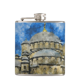 Blue Mosque in Istanbul Turkey Hip Flask