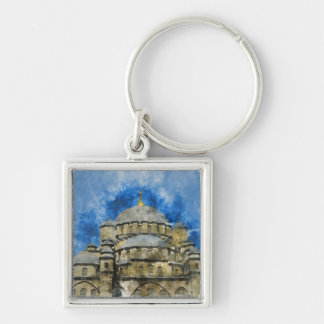 Blue Mosque in Istanbul Turkey Key Ring