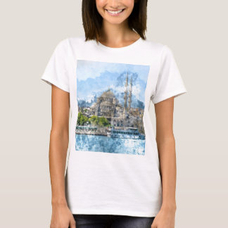 Blue Mosque in Istanbul Turkey T-Shirt