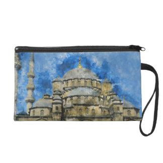 Blue Mosque in Istanbul Turkey Wristlet Purses