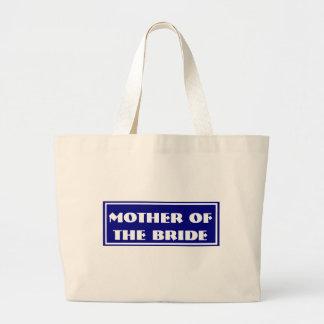 Blue Mother of the Bride Wedding Jumbo Tote Bag