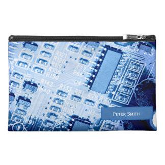 Blue Motherboard Modern Pattern Travel Accessories Bag