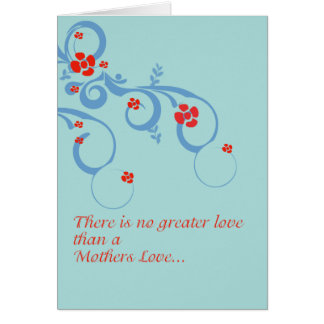 Blue Mothers Day Greeting Card