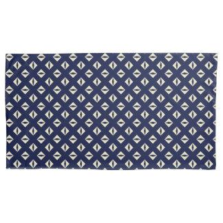 Blue Motif Herringbone accent Pillowcase