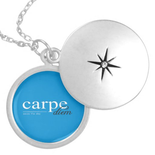 Blue Motivational Inspirational Quote Custom Jewelry