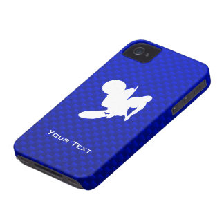 Blue Motocross Whip iPhone 4 Covers