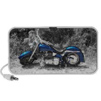 Blue Motorcycle Mp3 Speakers