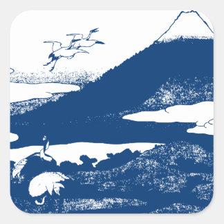 Blue Mount Fuji Sticker