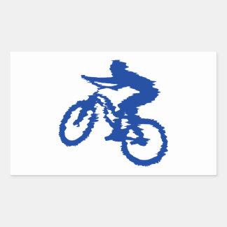 Blue Mountain Bike Rectangular Sticker