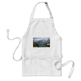 Blue mountain lake  oeschinen pond in nature standard apron
