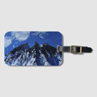 Blue mountain luggage tag