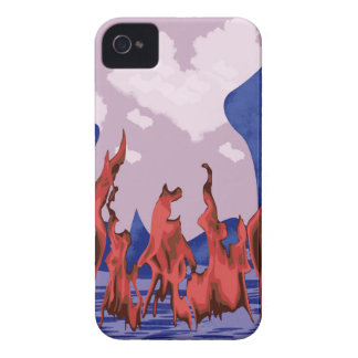 Blue mountains & fire iPhone 4 cover