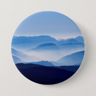 Blue Mountains Landscape Scene 7.5 Cm Round Badge