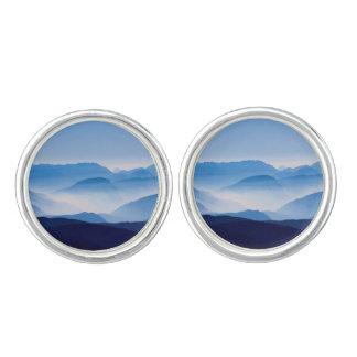 Blue Mountains Landscape Scene Cufflinks