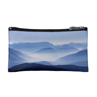 Blue Mountains Meditative Relaxing Landscape Scene Cosmetic Bag