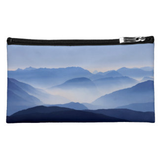 Blue Mountains Meditative Relaxing Landscape Scene Cosmetics Bags