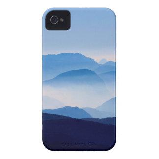 Blue Mountains Meditative Relaxing Landscape Scene iPhone 4 Case-Mate Case