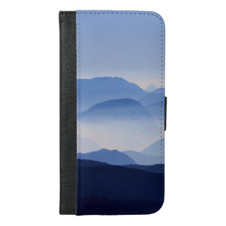Blue Mountains Meditative Relaxing Landscape Scene iPhone 6/6s Plus Wallet Case