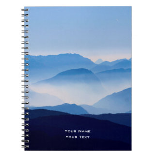 Blue Mountains Meditative Relaxing Landscape Scene Notebooks