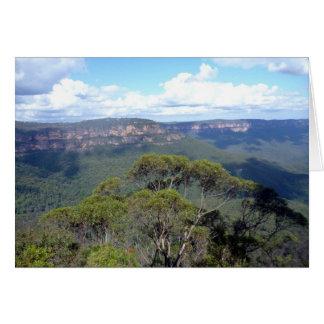 blue mountains ridge view card