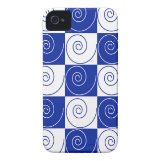 Blue Mouse Tail Twists iPhone 4 Case-Mate Case