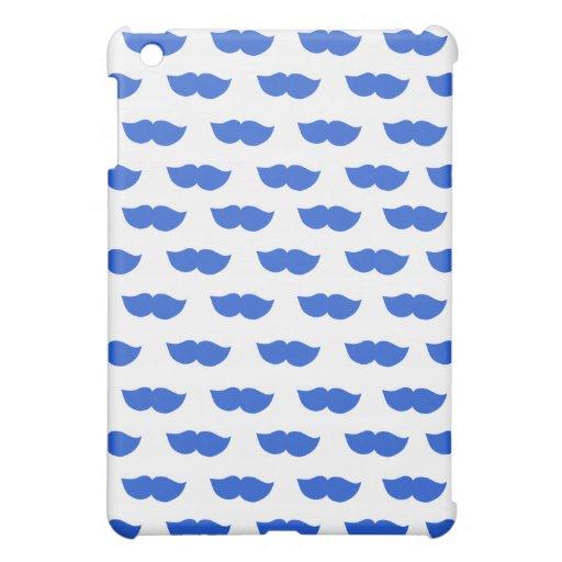 Blue Moustaches Case For The iPad Mini