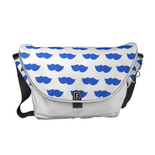 Blue Moustaches Commuter Bag