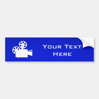 Blue Movie Camera Car Bumper Sticker