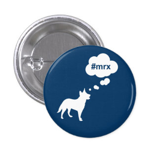 Blue #mrx and dog Button