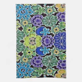 Blue-Multi_Jungle__Floral_ Tea Towel
