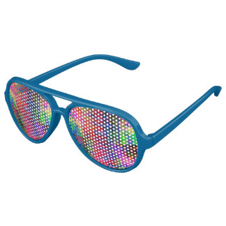 Blue Multiple Color Party Aviator Sunglasses