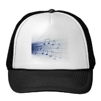 Blue Music Explosion on White Mesh Hat
