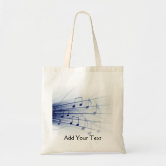 Blue Music Explosion on White Tote Bag