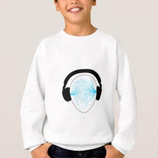 Blue Music waves Sweatshirt