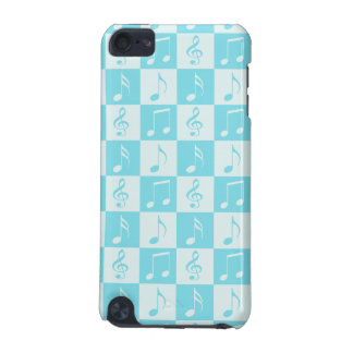 Blue Musical Checker Pattern iPod Touch (5th Generation) Cases
