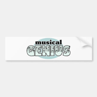 Blue Musical Genius Bumper Sticker