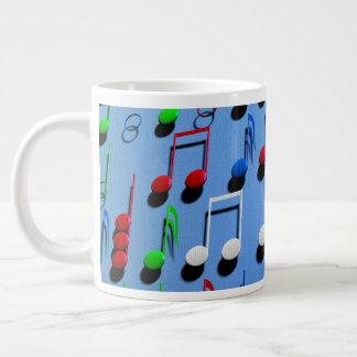 Blue Musical Notes Mug