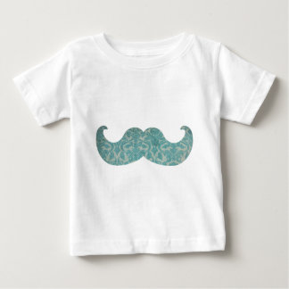 Blue Mustache - Vintage Damask Baby T-Shirt