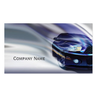 Blue Mustang Car In The Gradient Motion Card Pack Of Standard Business Cards