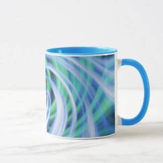 Blue N Green Swirls Mug
