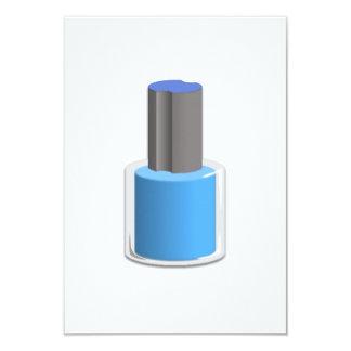 Blue Nail Polish Personalized Invitation