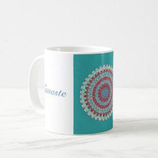 Blue Namaste Mandala Coffee Mug