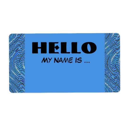 blue name badge