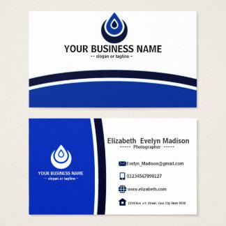 blue name card elegant & simple 001