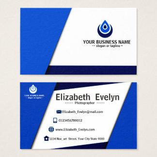 blue name card elegant & simple 002