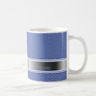 Blue Named Waves Basic White Mug