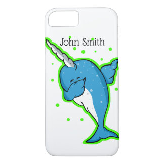Blue Narwhal Dabbing iPhone 8/7 Case