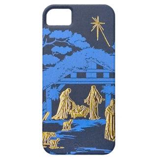 Blue nativity scene iPhone 5 cases